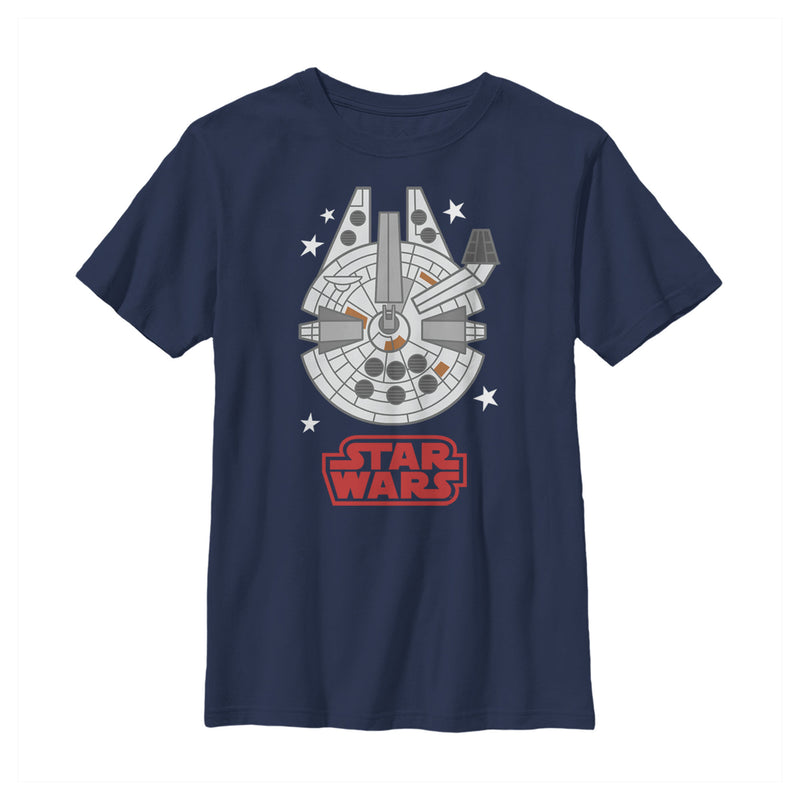 Star Wars Millennium Falcon Cartoon Boys Graphic T Shirt