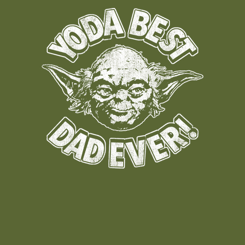 Star Wars Men's Father's Day Yoda Best Dad Ever  T-Shirt