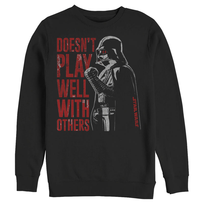 Star Wars Darth Vader Doesn't Play Well Mens Graphic Sweatshirt