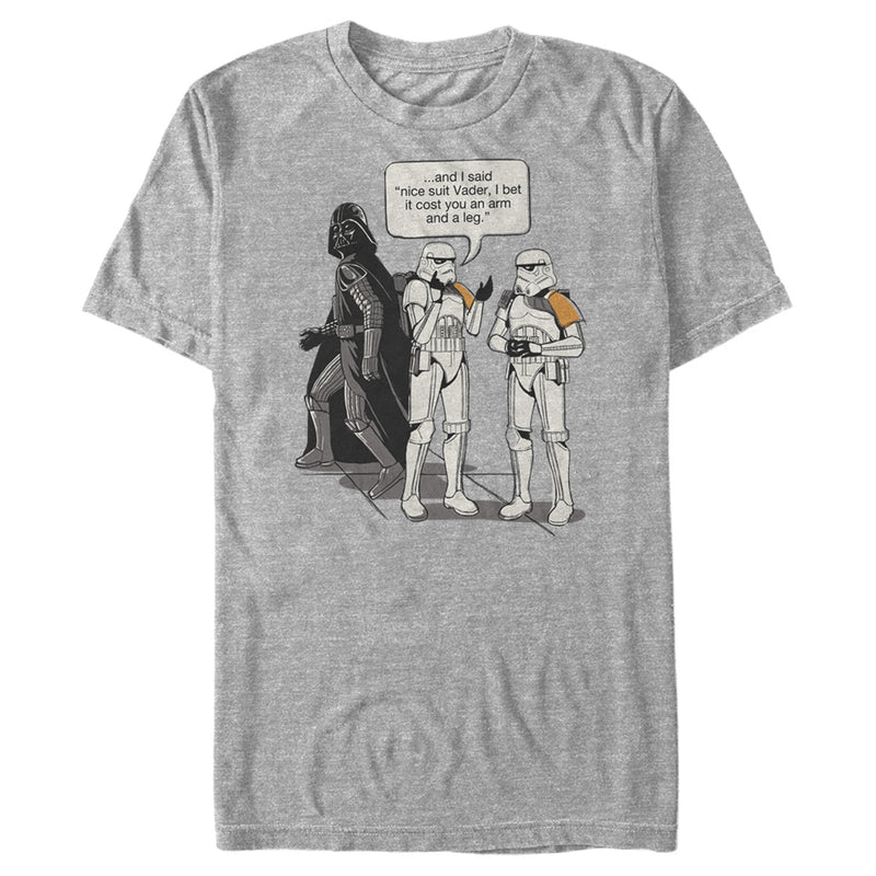 Star Wars Men's Stormtroopers Nice Suit Vader  T-Shirt  Athletic Heather  XL
