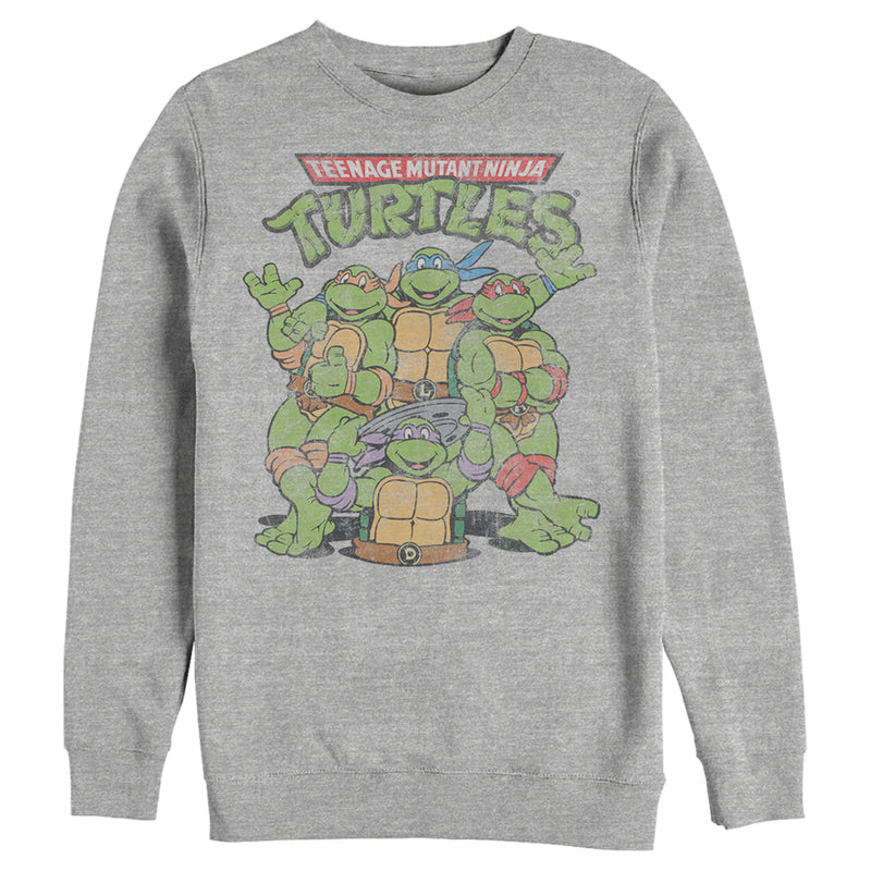 Teenage Mutant Ninja Turtles Men's Best Friend Shot  Sweatshirt  Athletic Heather  2XL
