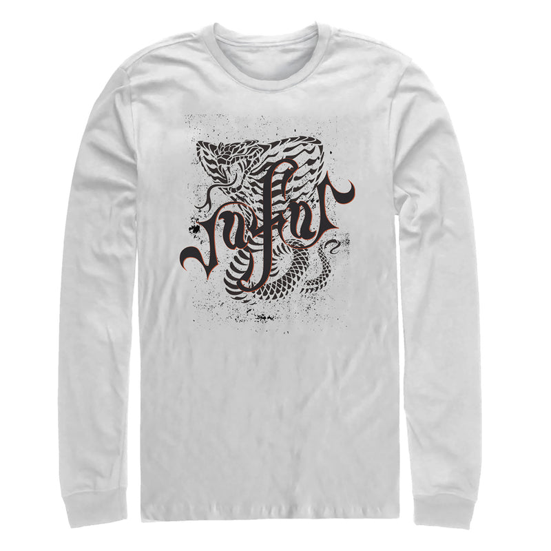 Aladdin Men's Jafar Cobra Scrawl  Long Sleeve Shirt  White  L