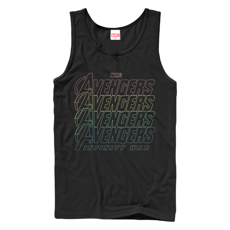 Marvel Avengers: Infinity War Rainbow Logo Mens Graphic Tank Top