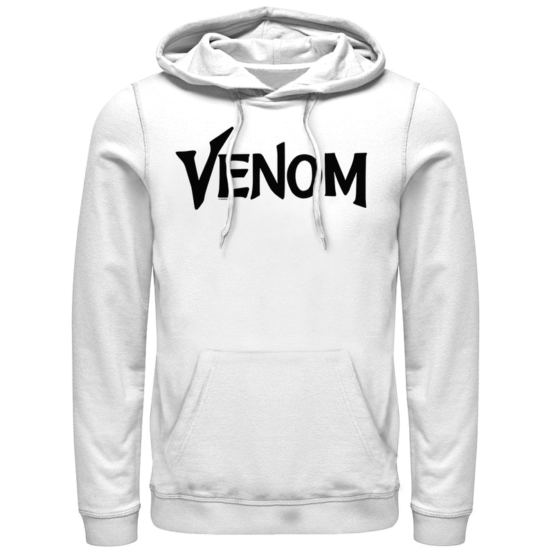 Marvel Men's Venom Film Bold Logo  Pull Over Hoodie  White  M