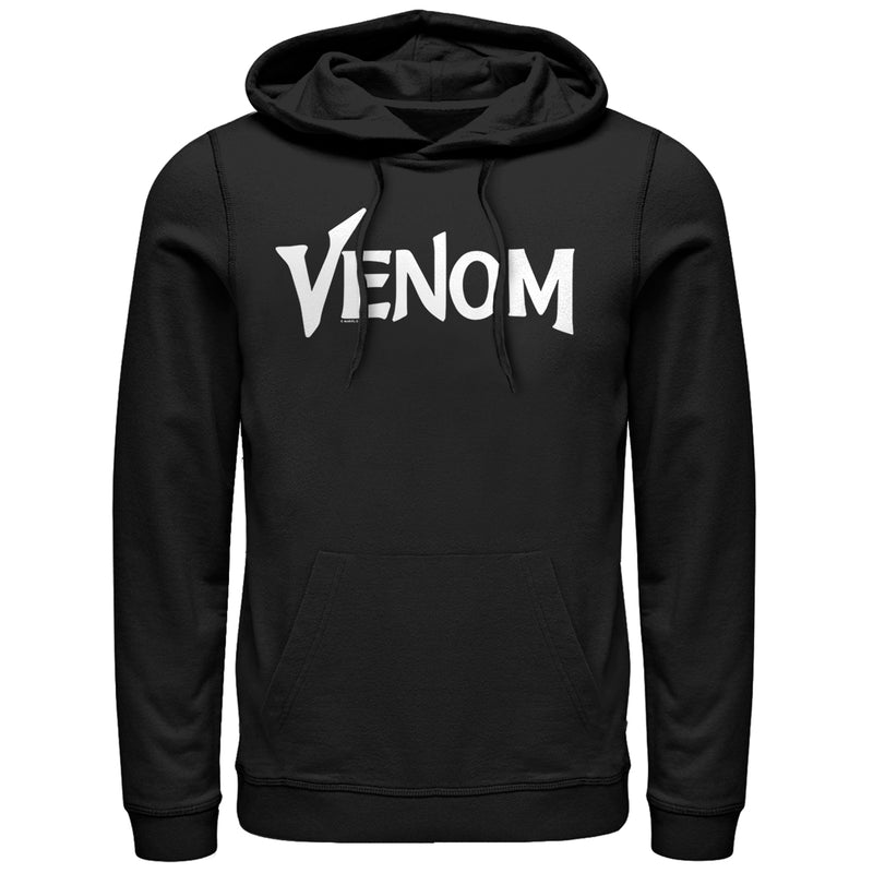Marvel Men's Venom Film Bold Logo  Pull Over Hoodie  Black  L