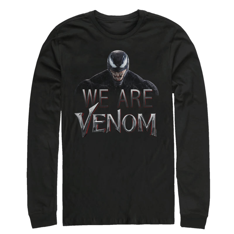 Marvel We Are Venom Film Logo Mens Graphic Long Sleeve Shirt