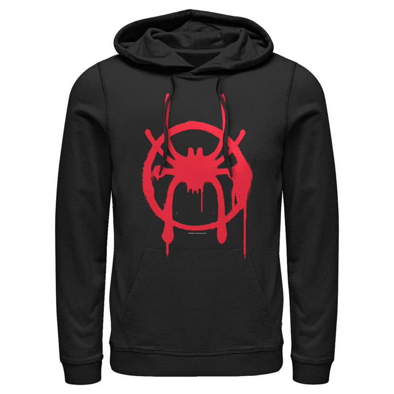 Marvel Men's Spider-Man: Into the Spider-Verse Symbol  Pull Over Hoodie