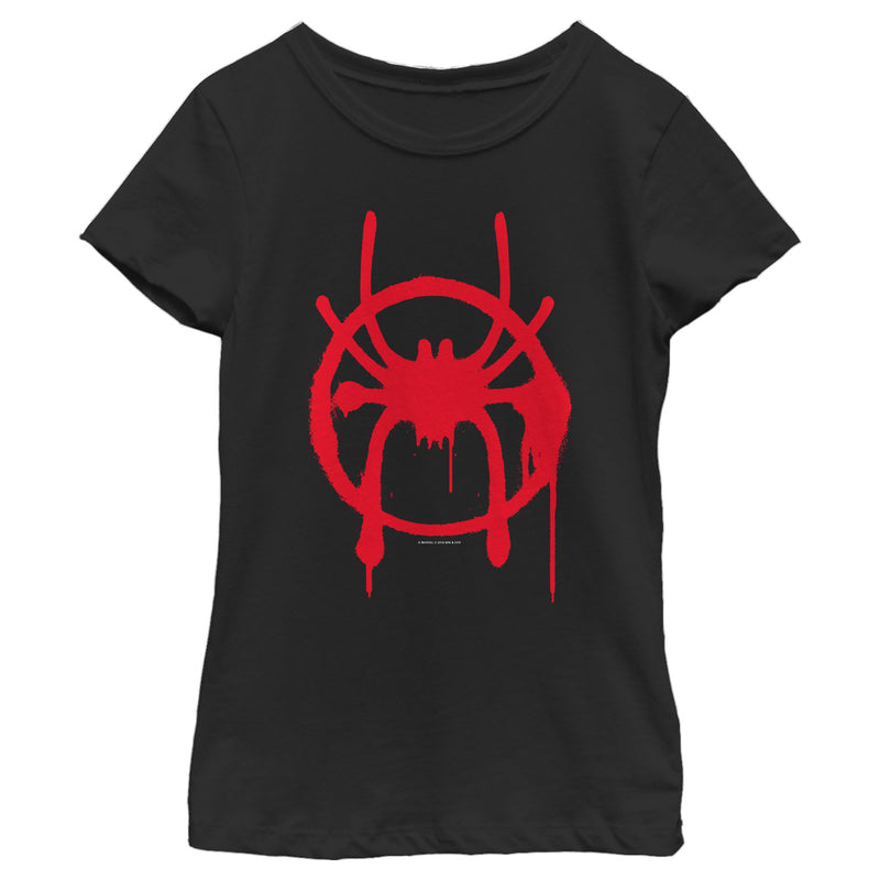 Marvel Girl's Spider-Man: Into the Spider-Verse Symbol  T-Shirt