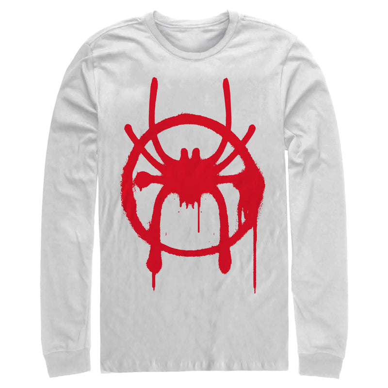 Marvel Spider-Man: Into the Spider-Verse Symbol Mens Graphic Long Sleeve Shirt