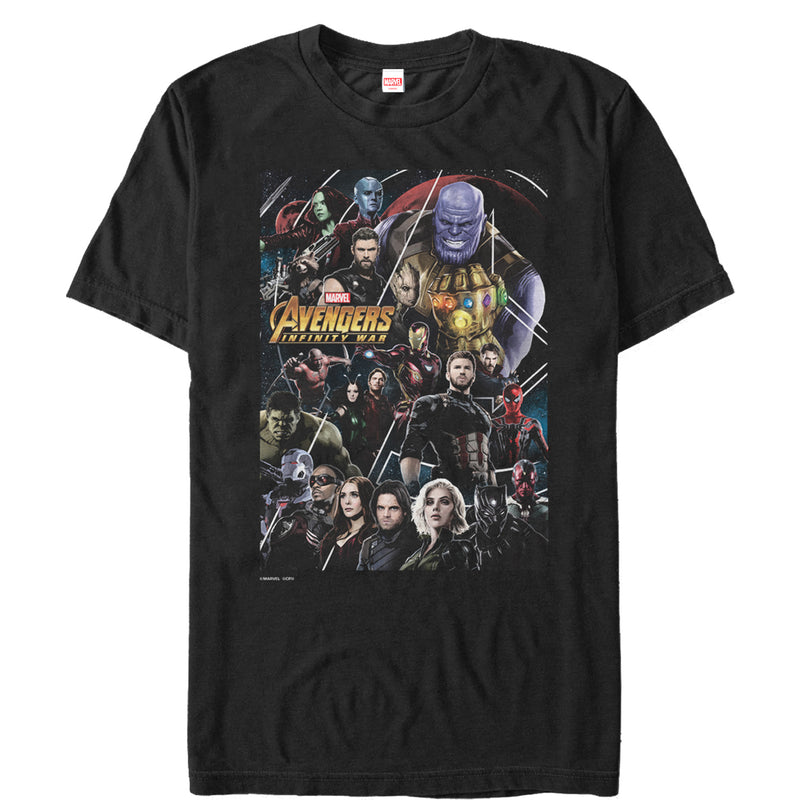 Marvel Avengers: Infinity War Character View Mens Graphic T Shirt
