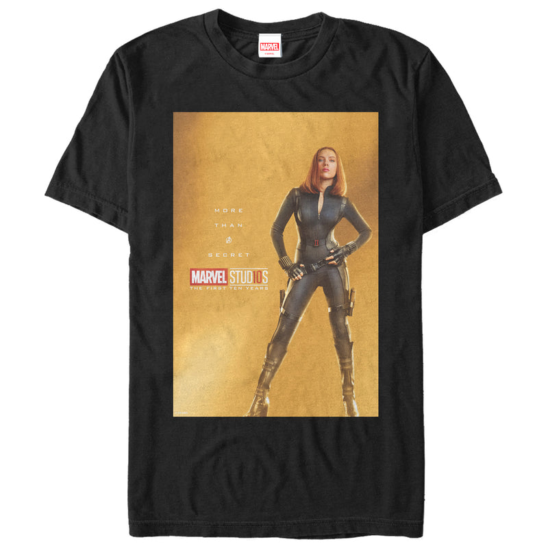Marvel Men's 10 Years Anniversary Black Widow  T-Shirt