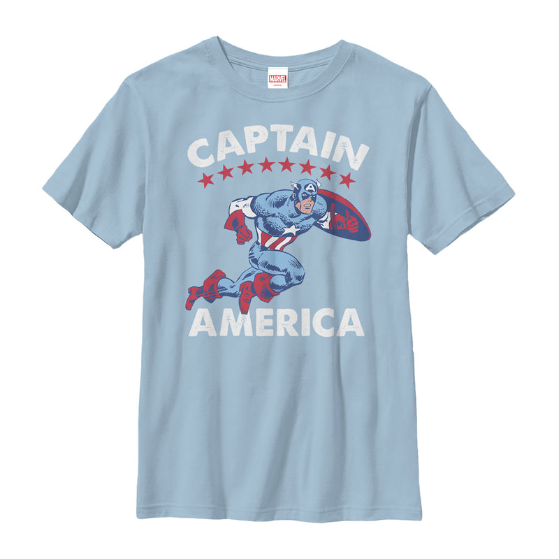 Marvel Fourth of July Retro Captain America Boys Graphic T Shirt