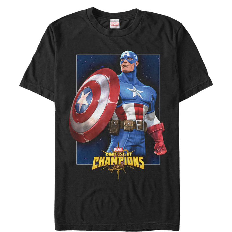 Marvel Contest of Champions Captain America Mens Graphic T Shirt