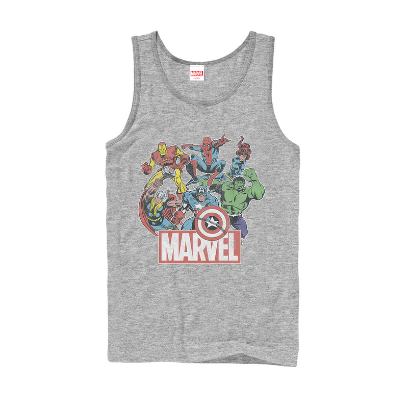 Marvel Men's Classic Hero Collage  Tank Top  Athletic Heather  2XL