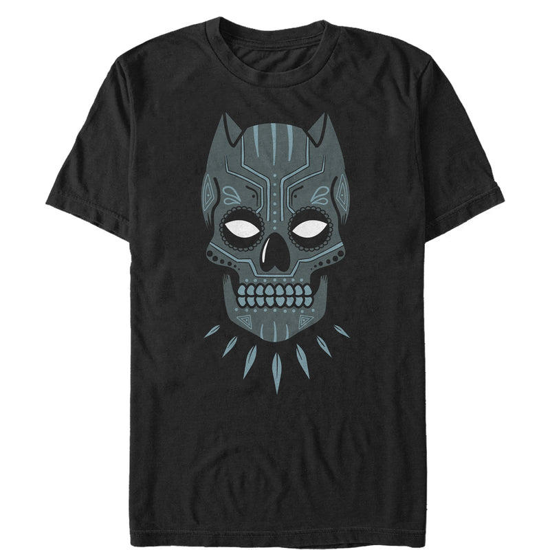Marvel Men's Halloween Panther Sugar Skull  T-Shirt  Black  2XL