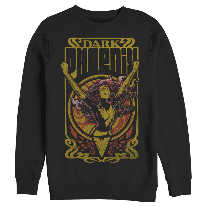 Marvel Men's X-Men Dark Phoenix Crest  Sweatshirt  Black  M
