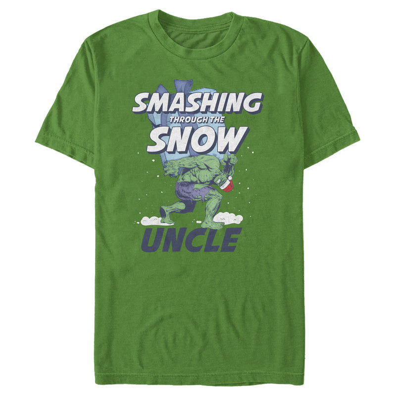 Marvel Men's Hulk Uncle Smashing Snow  T-Shirt  Kelly Green  2XL