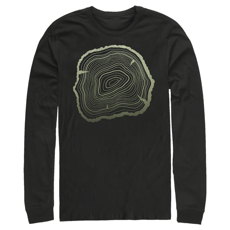 Lost Gods Men's Ancient Tree Rings  Long Sleeve Shirt  Black  M