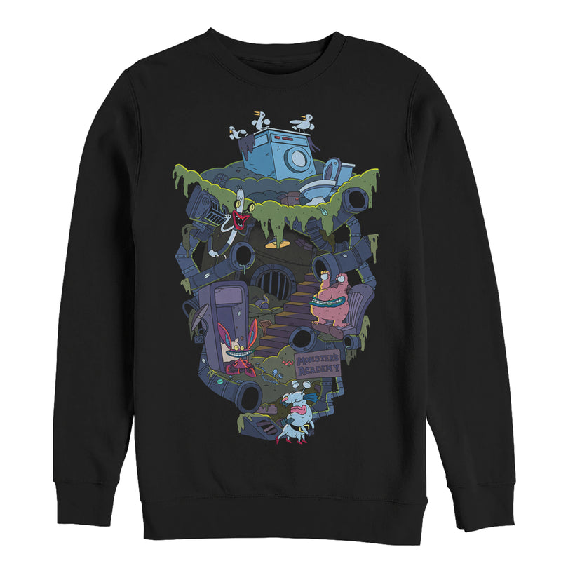 Aaahh!!! Real Monsters Underground Lair Mens Graphic Sweatshirt