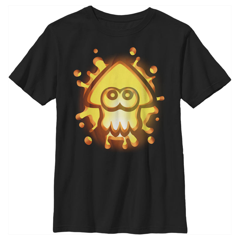 Nintendo Boy's Halloween Splatoon Pumpkin  T-Shirt  Black  XS