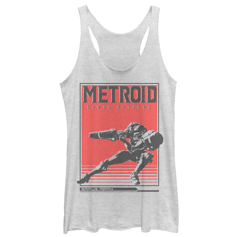 Nintendo Metroid Samus Returns Poster Womens Graphic Racerback Tank