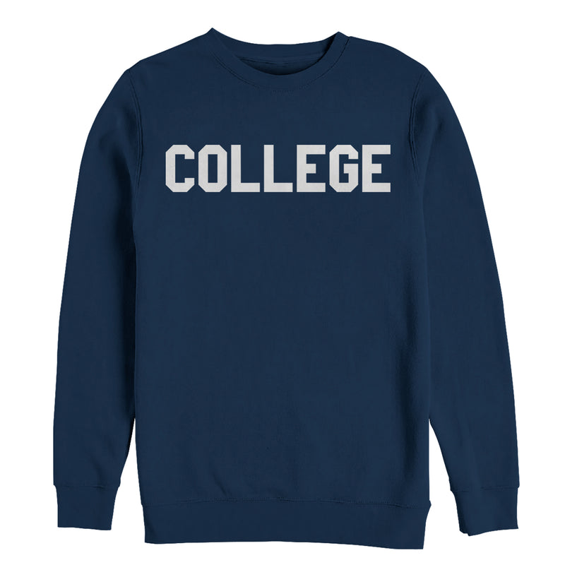 Animal House Men's College Text  Sweatshirt  Navy Blue  M