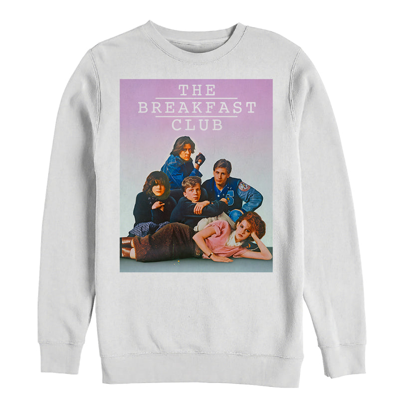 The Breakfast Club Iconic Detention Pose Mens Graphic Sweatshirt