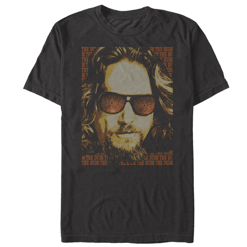 The Big Lebowski Men's The Dude Text Poster  T-Shirt