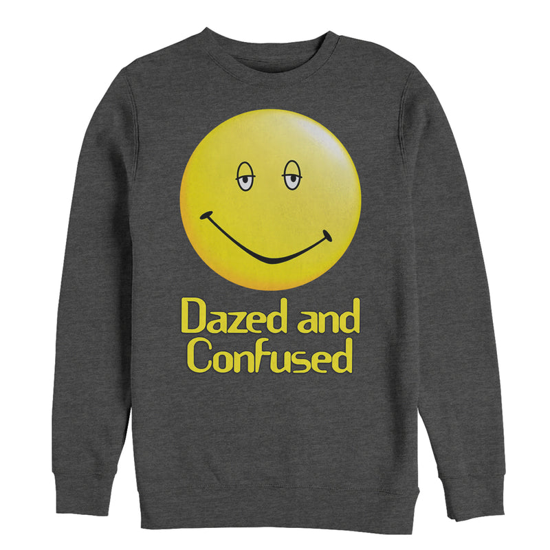 Dazed and Confused Big Smiley Logo Mens Graphic Sweatshirt