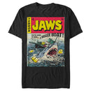 Jaws Men's Retro Comic Book Shark  T Shirt