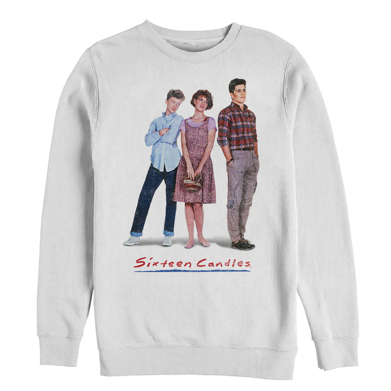 Sixteen Candles Men's Classic Movie Poster  Pull Over Hoodie  White  XL