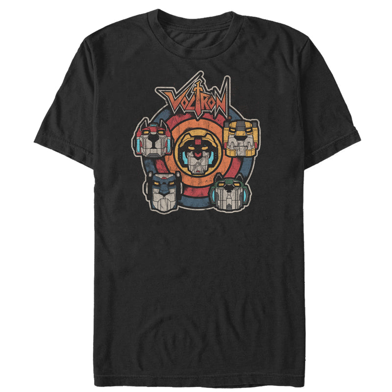 Voltron: Defender of the Universe Retro Lion Target Mens Graphic T Shirt