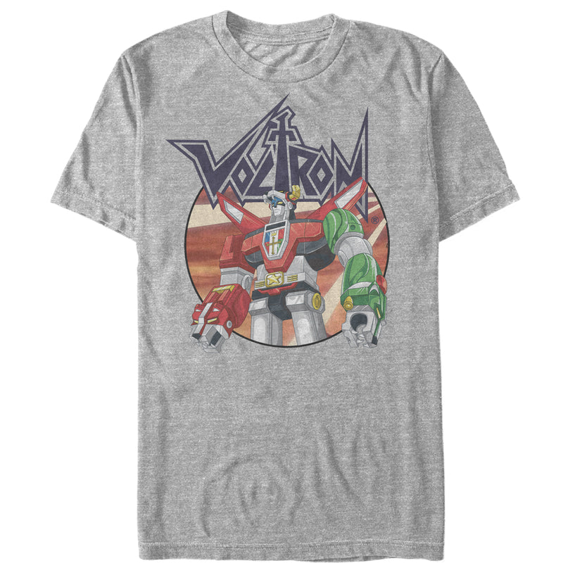 Voltron: Defender of the Universe Men's Robot Circle  T-Shirt  Athletic Heather  XL
