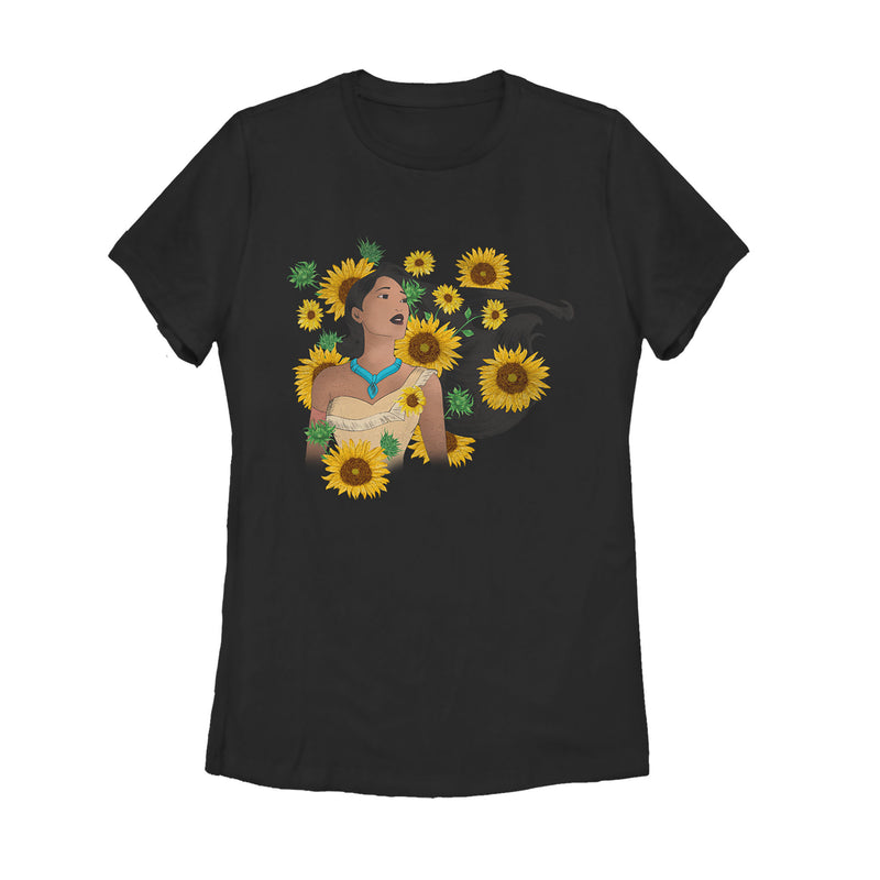 Pocahontas Sunflowers Womens Graphic T Shirt