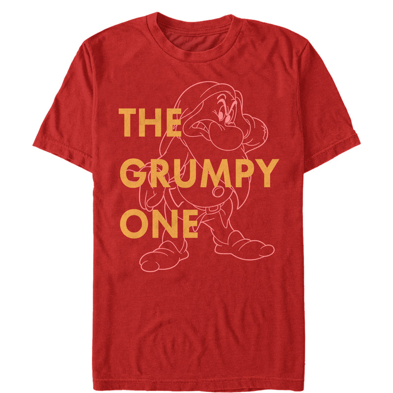 Snow White and the Seven Dwarves Men's Grumpy One  T Shirt Red M