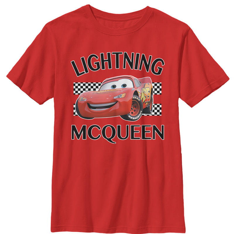 Cars Lightning McQueen Portrait Boys Graphic T Shirt