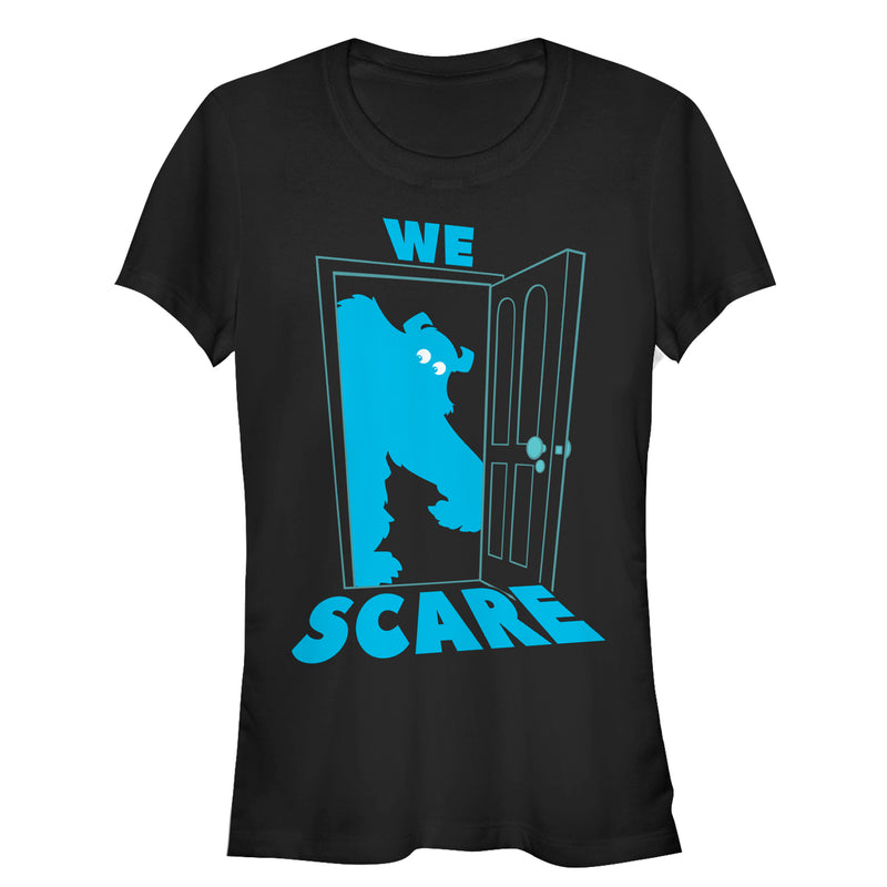 Monsters Inc Sulley Scares Doorway Juniors Graphic T Shirt