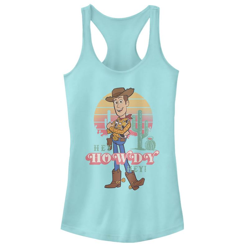 Toy Story Junior's Hey Woody  Racerback Tank Top  Cancun  L