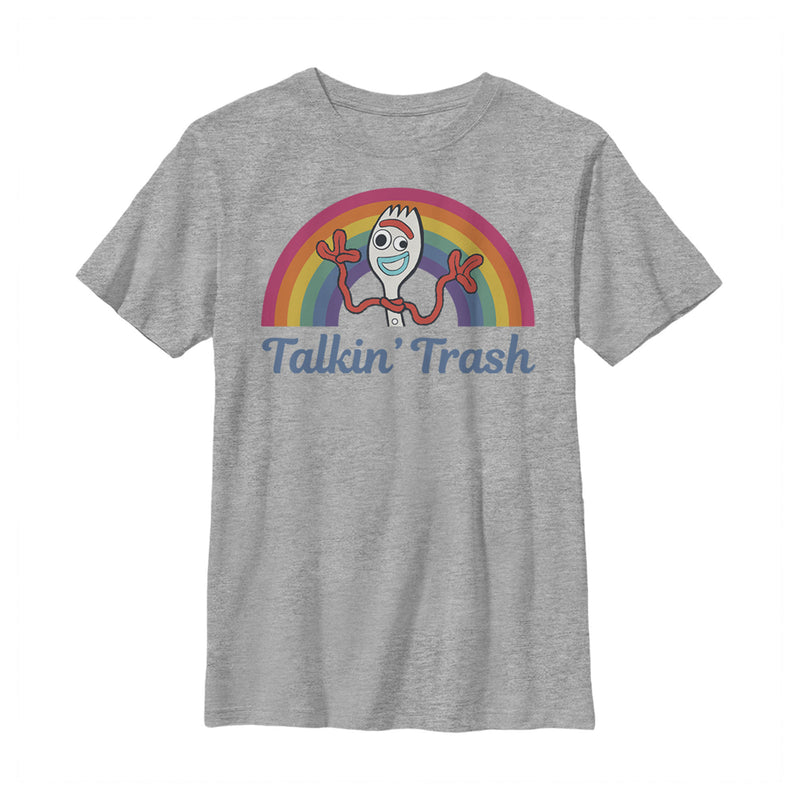 Toy Story 4 Forky Talkin' Trash Rainbow Boys Graphic T Shirt
