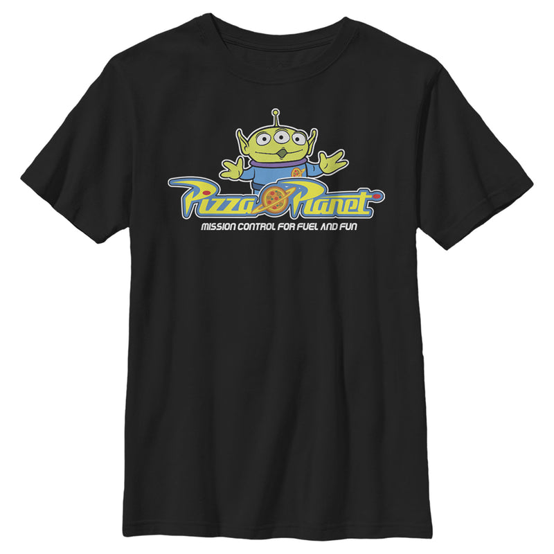 Toy Story Pizza Planet Alien Slogan Boys Graphic T Shirt