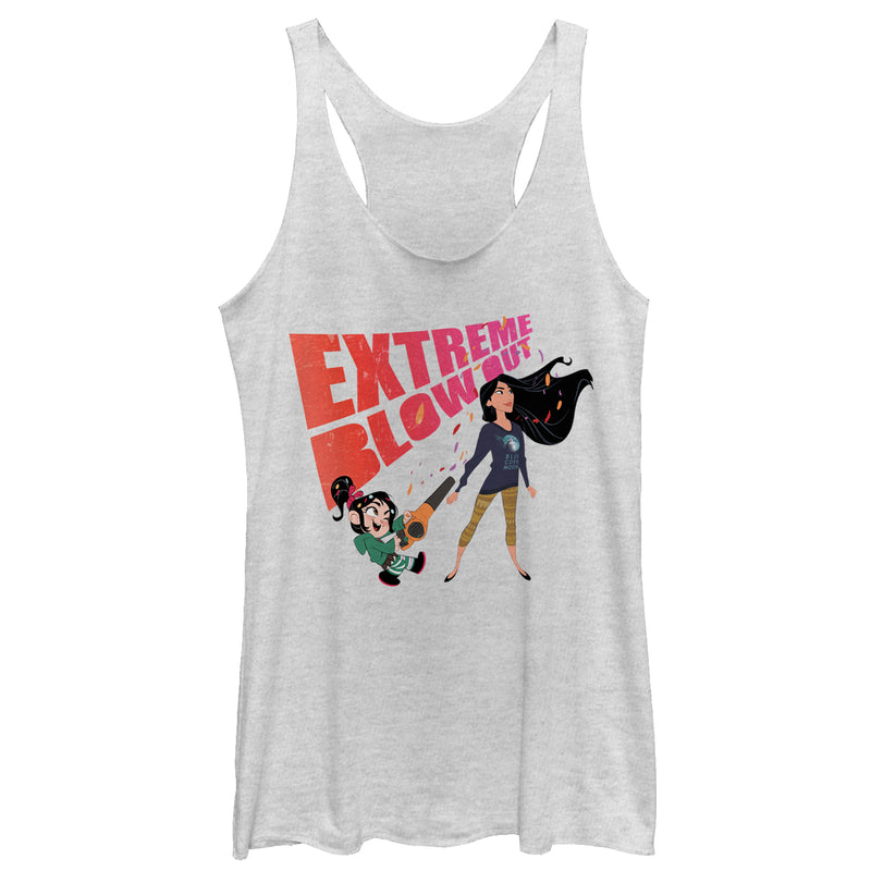 Ralph Breaks the Internet Pocahontas Blowout Womens Graphic Racerback Tank