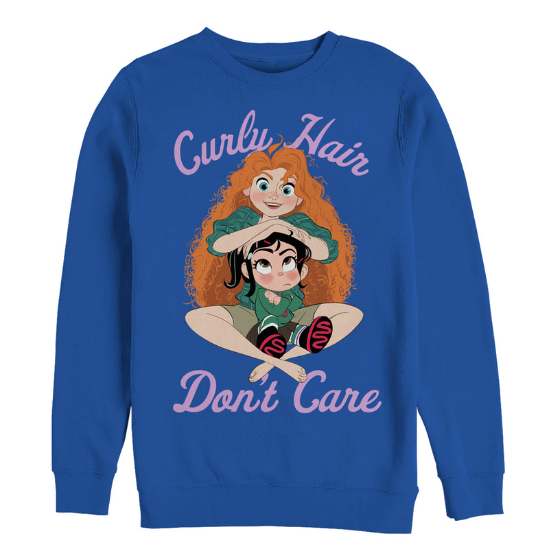 Ralph Breaks the Internet Men's Merida Hair  Sweatshirt  Royal Blue  2XL