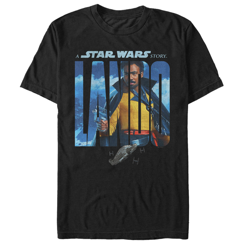 Solo: A Star Wars Story Men's Lando Name Movie Poster  T-Shirt  Black  2XL