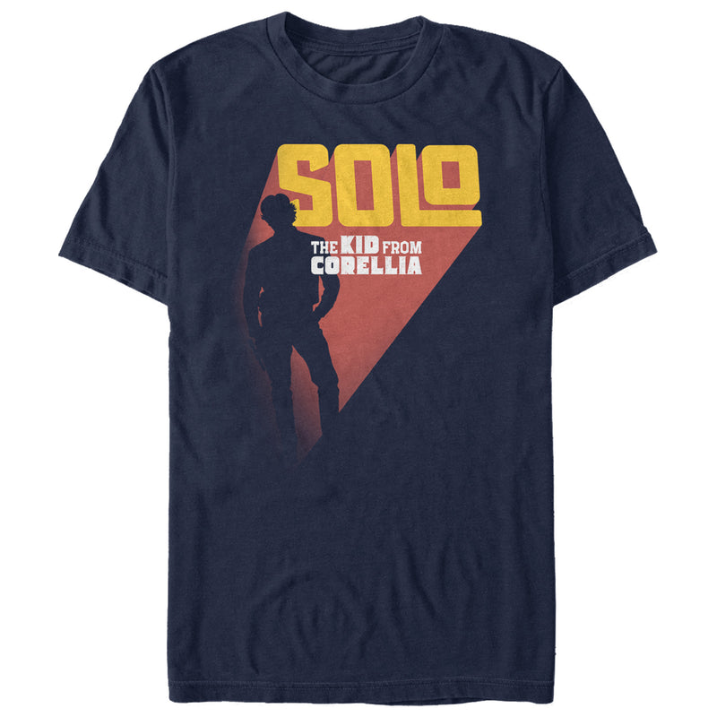 Solo: A Star Wars Story Kid from Corellia Silhouette Mens Graphic T Shirt