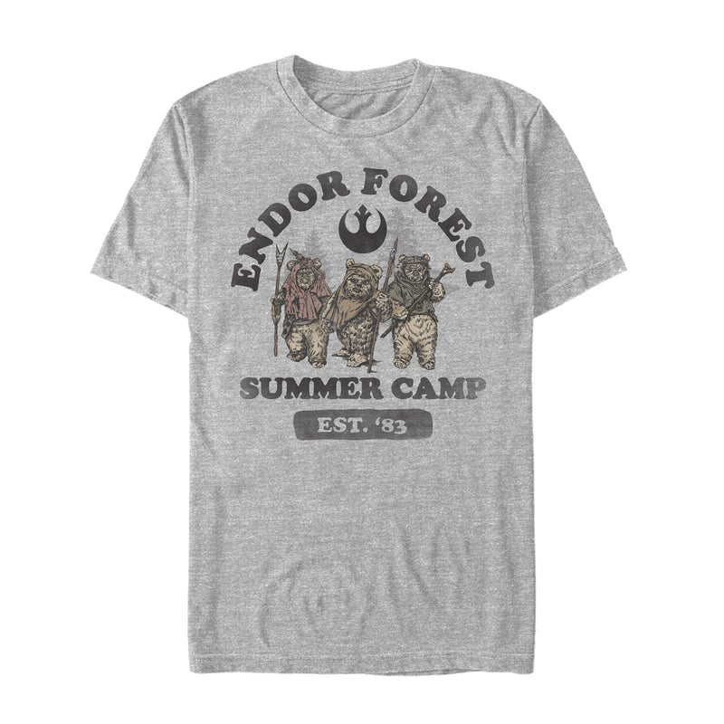 Star Wars Men's Forest of Endor Summer Camp '83  T-Shirt  Athletic Heather  XL