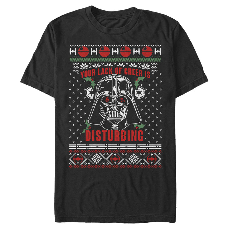 Star Wars Ugly Christmas Sith Lord Mens Graphic T Shirt