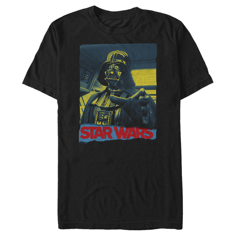 Star Wars Men's Vader Force Grip  T-Shirt  Black  M