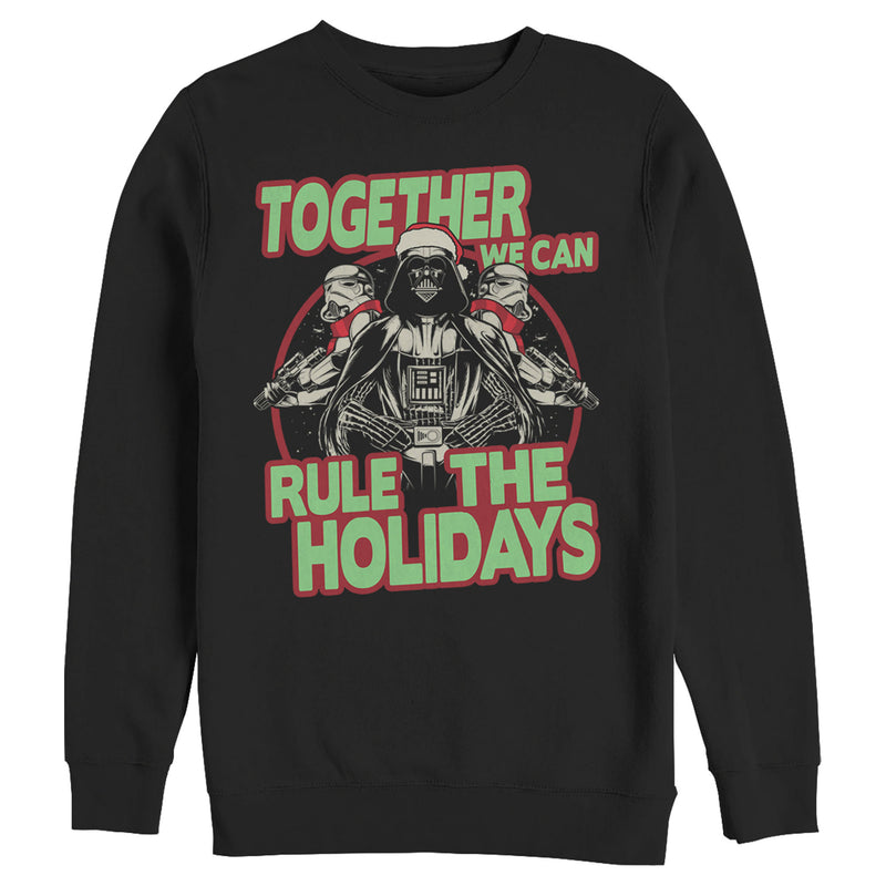 Star Wars Men's Christmas Dark Side Rulers  Sweatshirt  Black  2XL