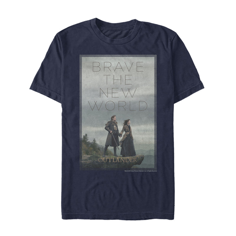 Outlander Brave the New World Poster Mens Graphic T Shirt
