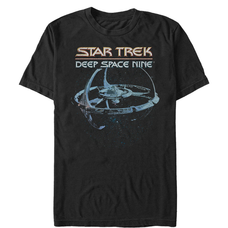 Star Trek DS9 Classic Space Station View Mens Graphic T Shirt